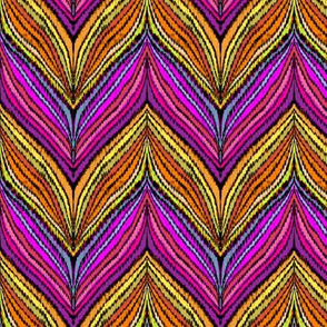 vivid feathered chevron