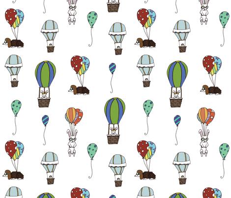 Balloon Buddies  fabric by svaeth on Spoonflower - custom fabric