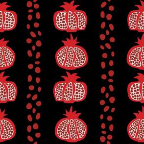 Pomegranate Rows black