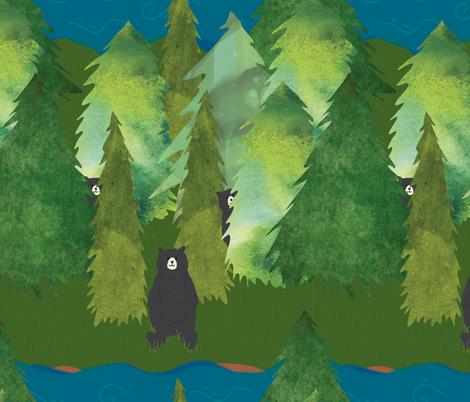 Bear Woods fabric by jofryerdesigns on Spoonflower - custom fabric