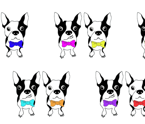 BOWTIE BOSTONS   (Large Scale) fabric by the_design_house on Spoonflower - custom fabric