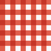 small gingham red