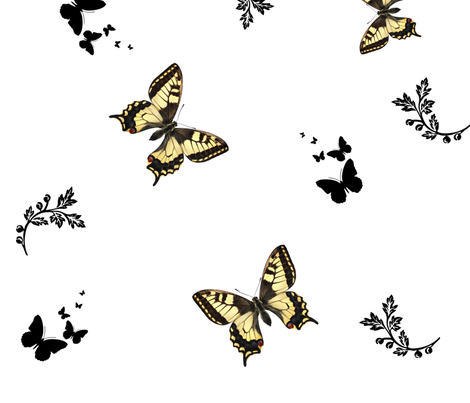 Flutterbyes 2 fabric by tabasamu_design on Spoonflower - custom fabric