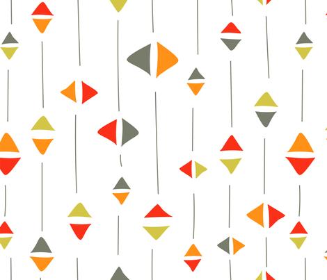 Flying kites fabric by stephaniechauvel on Spoonflower - custom fabric