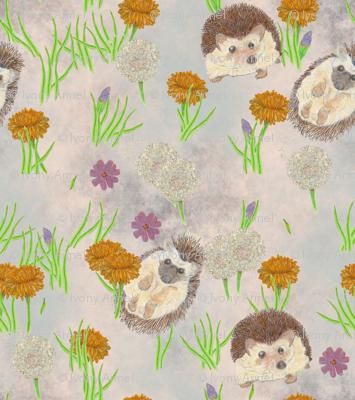 Happy Hedgehogs Wallpaper-Sized Edit