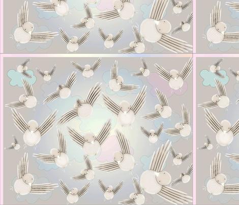 Bird Tiles  fabric by gracelillydesigns on Spoonflower - custom fabric