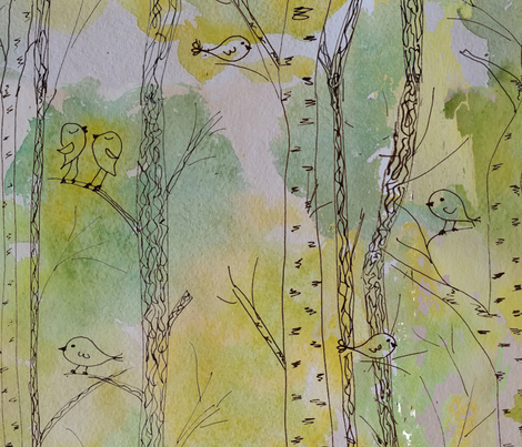 wallpaper fabric by belana on Spoonflower - custom fabric