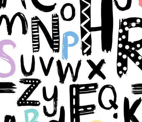 nursery alphabet fabric by laura_may_designs on Spoonflower - custom fabric