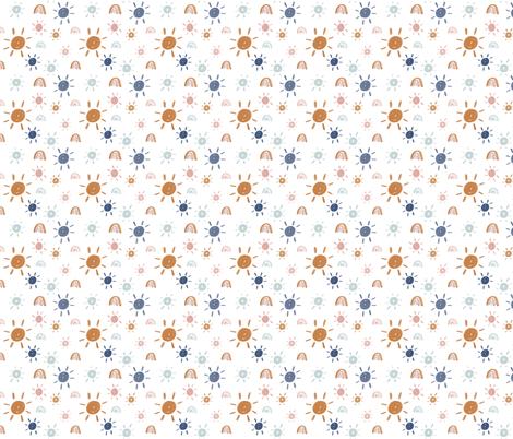 Mr Golden Sun in Earth Tones fabric by montgomeryfest on Spoonflower - custom fabric