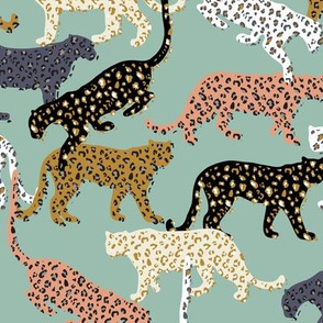 africa africa - leopards -  aqua - mini