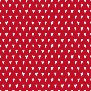 Little white hearts on red
