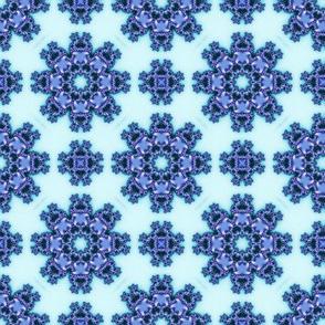 Blue Fractal Flowers