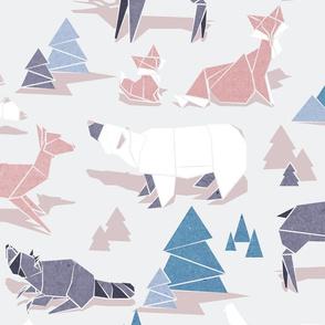 Origami woodland II // large scale