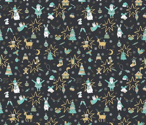 Christmas Holiday fabric by irynmerry on Spoonflower - custom fabric