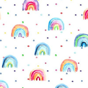 Rainbow baby dreams || watercolor pattern for nursery