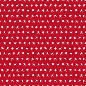 Little white stars on red