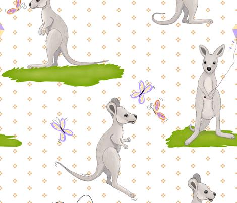 Jumbo Scale Baby Kangaroo fabric by beala_designs on Spoonflower - custom fabric