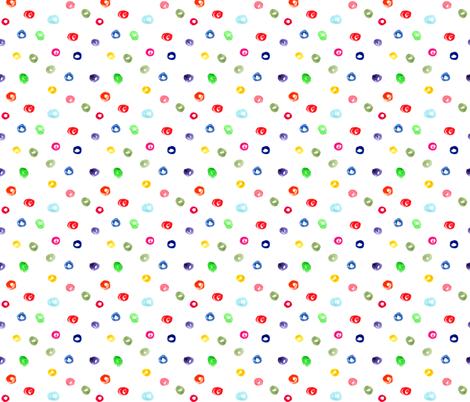 Watercolor colorful polka dot pattern, for nursery, kids fabric by katerinaizotova on Spoonflower - custom fabric