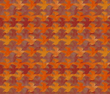 Autumn Birds fabric by mrissa on Spoonflower - custom fabric