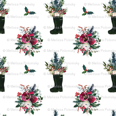 Rain Boot Winter Bouquet