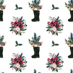 Rain Boot Winter Bouquet