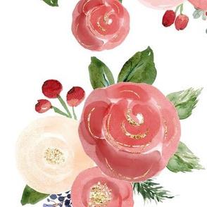 """16"""" Tis the Season Florals // White"""