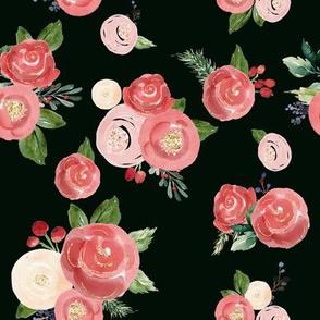 "8"" Tis the Season Florals // Black"
