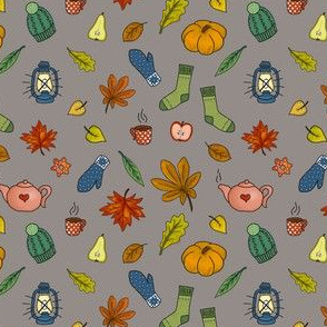 autumnal knitting - taupe