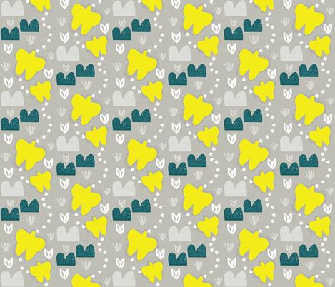 Butterflies fabric by anita_prints on Spoonflower - custom fabric