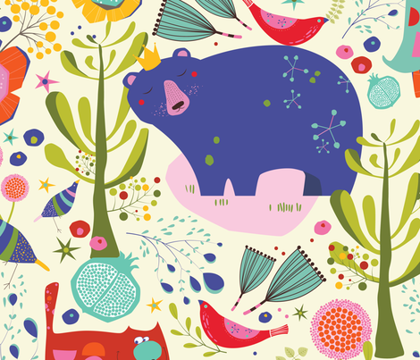 In the wild fabric by tamal_tree on Spoonflower - custom fabric