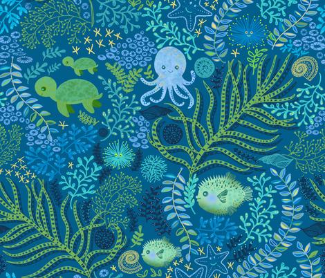 UNDER THE SEA BABY -  fabric by honoluludesign on Spoonflower - custom fabric
