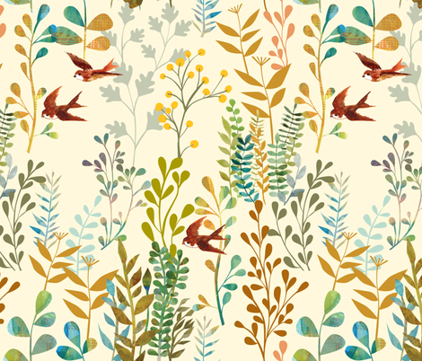 The Wild Garden fabric by ceciliamok on Spoonflower - custom fabric