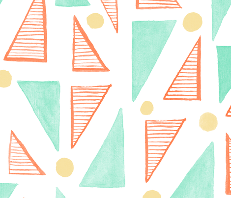 Festive Geometric Nursery fabric by artfully_minded on Spoonflower - custom fabric