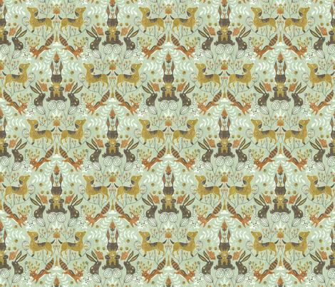 nursery-wallpaper5 fabric by gaiamarfurt on Spoonflower - custom fabric