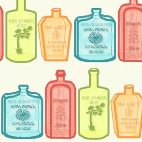 Patent Medicine Bottle Jumbo Chinoiserie