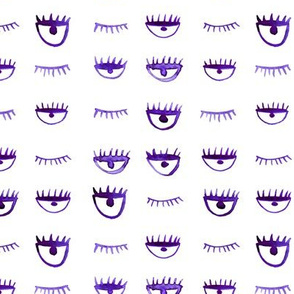 Purple winking eyes pattern