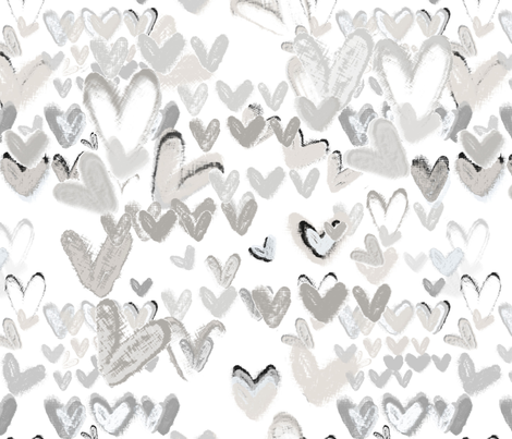 Cuddly Hearts fabric by jessica_barber on Spoonflower - custom fabric