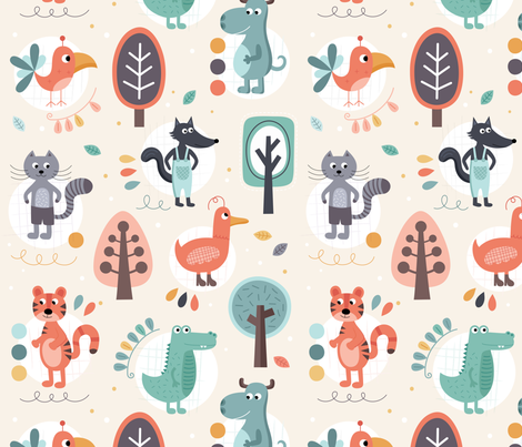 Wonderful-forest fabric by la_fabriken on Spoonflower - custom fabric