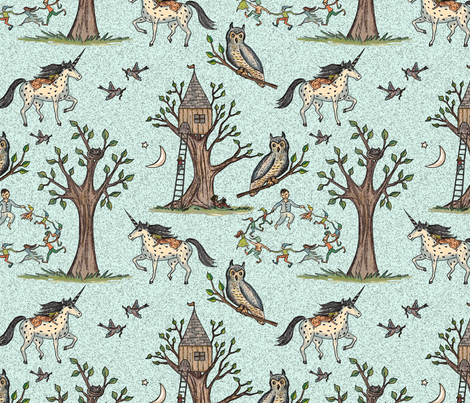 Good dreams fabric by lucybaribeau on Spoonflower - custom fabric