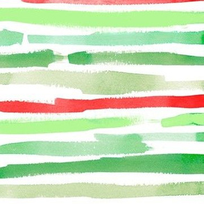 painty christmas stripes horizontal