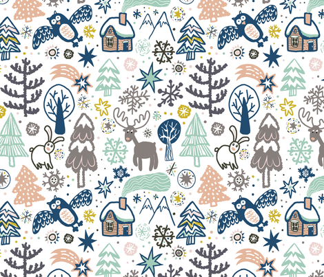 Nordic Christmas 18_0460 fabric by daria_rosen on Spoonflower - custom fabric