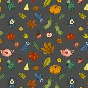 autumnal knitting - dark grey