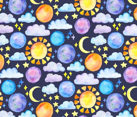 Night Sky fabric by tangerine-tane on Spoonflower - custom fabric