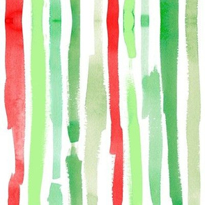 painty christmas stripes vertical