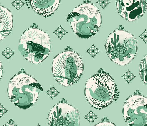 Baby's Natural World fabric by michele_norris on Spoonflower - custom fabric