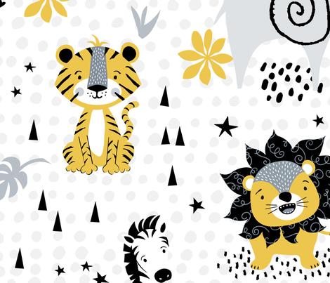 Wild Things Safari Animals fabric by valeriehart on Spoonflower - custom fabric
