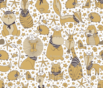 Pattern #98 Sailor Animals