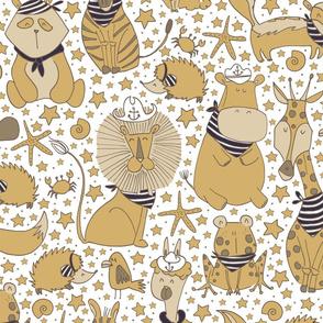 Pattern #98 Sailor Animals