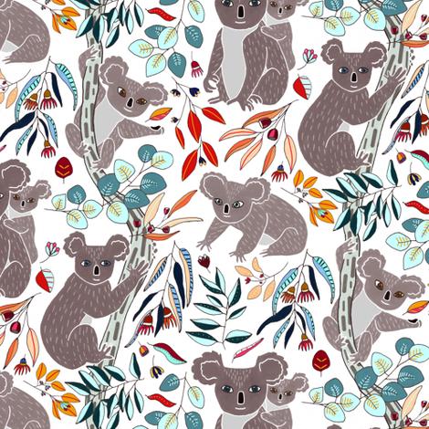 Cute Cuddly Koalas  fabric by tigatiga on Spoonflower - custom fabric