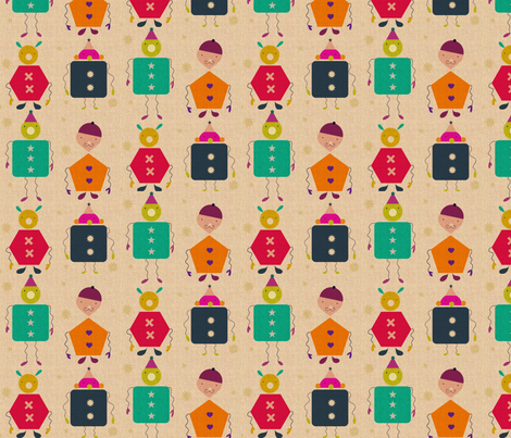 Robots & more robots! fabric by miloudesigns on Spoonflower - custom fabric